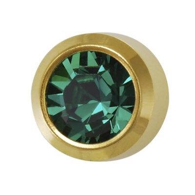Studex May ear piercing Birthstones 6 Pair emerald 24 K G