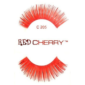 Color Eyelashes (Red with Red Tinsel) C205
