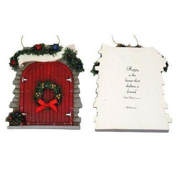 0182-25627C Resin Roman Barn Door Ornament To Personalize