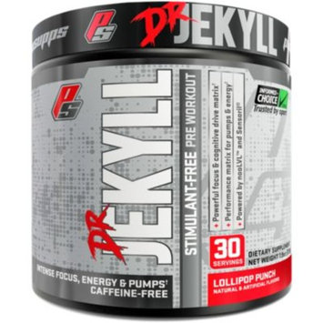 DR. JEKYLL STIMULANT-FREE LOLL (225G) - LOLLIPOP PUNCH (7.9 Ounces Powder) by ProSupps at the Vitamin Shoppe