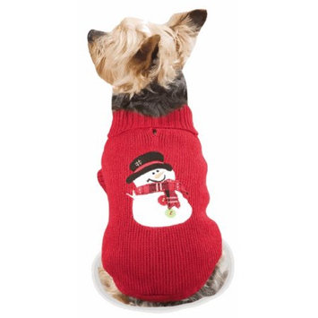 Casual Canine Snowman Dog Sweater - Size (See Chart Below): XX-Small: 8 L