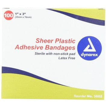 Dynarex Sheer Plastic Adhesive Sterile Bandages #3602 1
