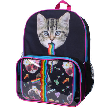 Rainbow Cat Backpack & Lunch Tote Set, Multicolor