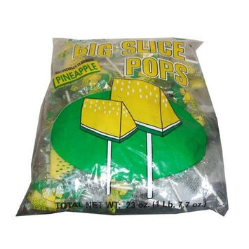 Big Slice Pineapple Lollipops 48 Count Bag