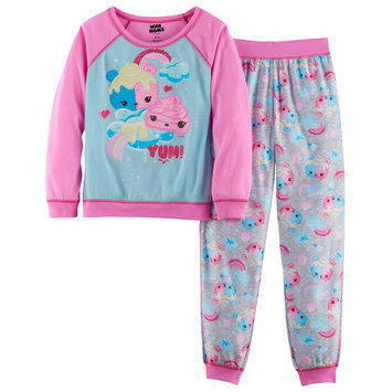 Toddler Girls' Num Noms Scented 2 Piece Jogger Pajama Set- Pink S
