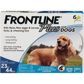 Frontline Plus Flea and Tick Treatment for Medium Dogs, 6 Doses
