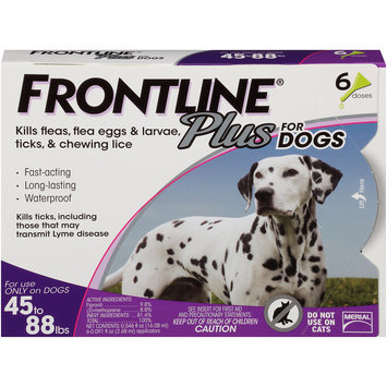 Frontline Plus Flea and Tick Treatment for Large Dogs, 6 Doses