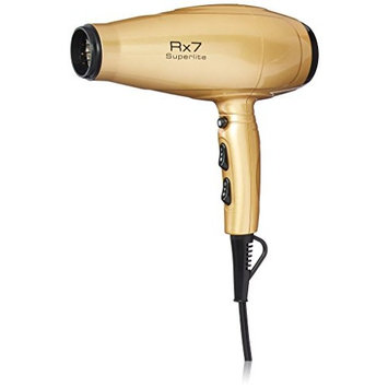 RX7 Superlite Advanced Nano Ionic Dryer Hair Blow Dryer with Infrared Heat Technology, Metallic Gold/Black