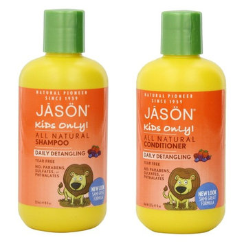 Jason Jason kids only! daily detangling shampoo and conditioner, 8 ounce bottle by jason natural
