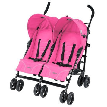 Dream On Me / Mia Moda Facile Twin Stroller, Pink