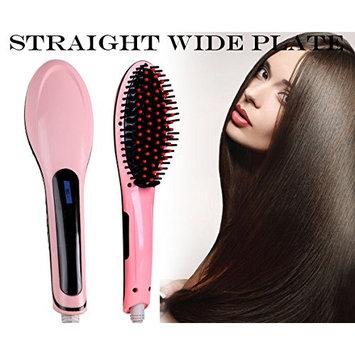 2 in 1 Hair Straightening Brush Vansop Heated Hair Straightener Hair Care for Silky Straight Hair, Anti Scald, LCD Display, Adjustable Temperature