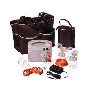 Hygeia EnJoye Double Breast Pump with Internal Battery & Black Tote Bag