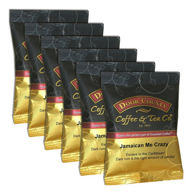 Door County Coffee Jamaican Me Crazy Ground Coffee 6-pk, Multicolor