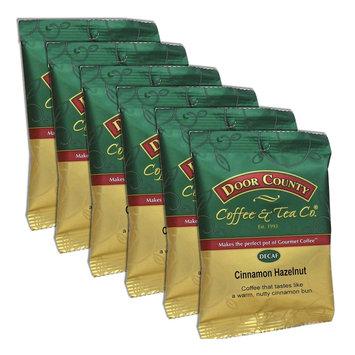Door County Coffee Decaf Cinnamon Hazelnut Ground Coffee 6-pk, Multicolor