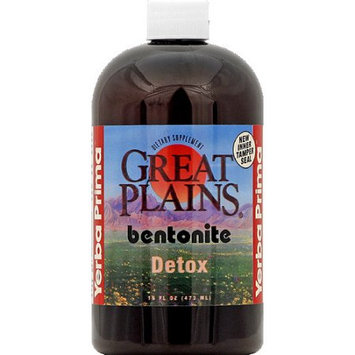 Yerba Prima Great Plains Bentonite Detox Dietary Supplement, 16 fl oz