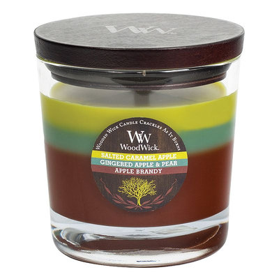 WoodWick Tri-Pour Salted Caramel Apple 17.2-oz. Candle Jar, Green