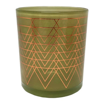WoodWick Metallic Salted Caramel Apple 9-oz. Candle Jar, Green