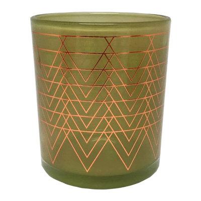 WoodWick Metallic Salted Caramel Apple 9-oz. Candle Jar, Green