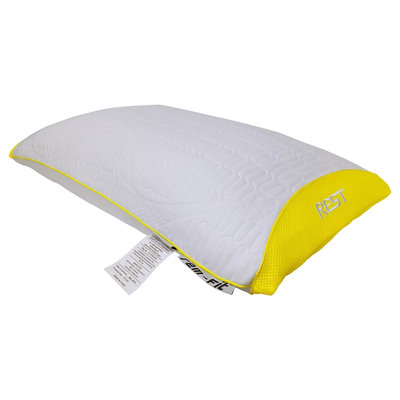 Protect A-bed Protect-A-Bed REM-Fit Rest 100 Series Hybrid Stomach Sleeper Pillow, White