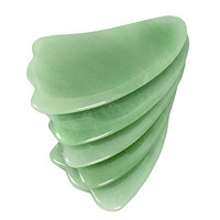 Feng Shui Natural Jade Green Dongling Claw-shaped Scraping Plate Piece W3421