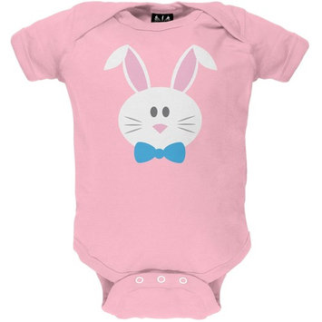 Bunny Face Pink Baby One Piece