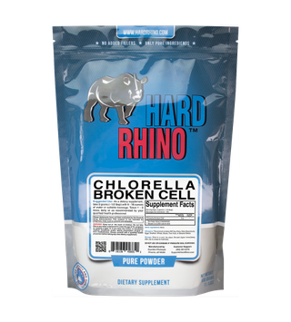 Hard Rhino Pure Chlorella Broken Cell Bulk Powder. (500G)