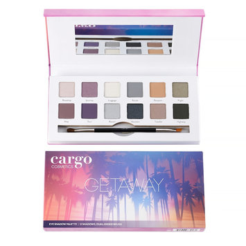 Cargo Comestics Getaway Eye Shadow Palette Contain 12 Shadows and Brush