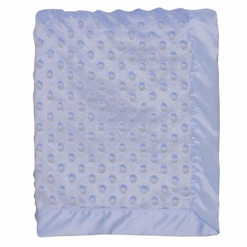 Baby Starters Textured Dot Blanket with Satin Trim, Blue