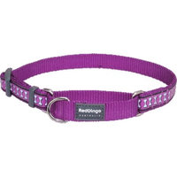Red Dingo MC-RB-PU-SM Martingale Dog Collar Reflective Purple Small