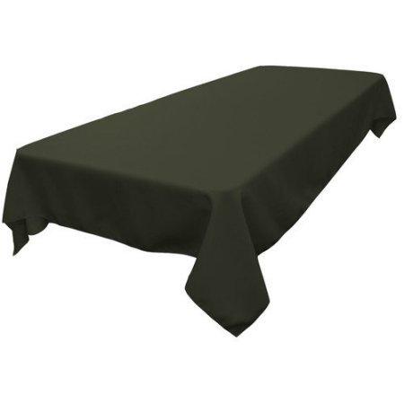 LA Linen TCpop60x84-BurgundyP17 Polyester Poplin Rectangular Tablecloth, Burgundy - 60 x 84 in.