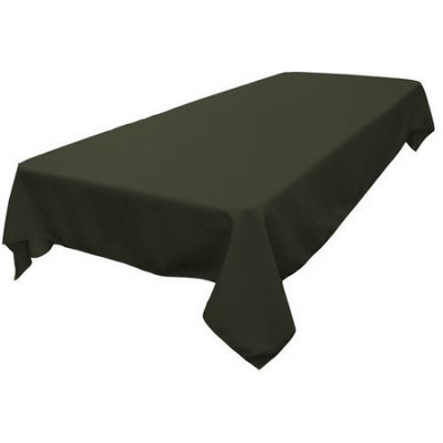 LA Linen TCpop60x84-TaupeP13 Polyester Poplin Rectangular Tablecloth, Taupe - 60 x 84 in.