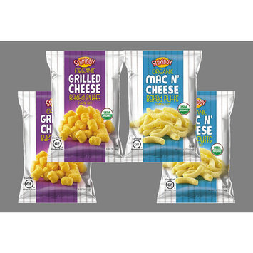 Snikiddy Organic Grilled Cheese & Mac 'N Cheese Baked Puffs Variety 4- Pack