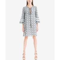 Max Studio Womens Melina Printed Bell Sleeves Casual Dress