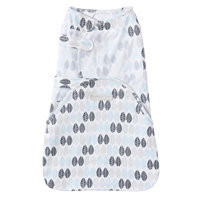 Baby HALO SwaddleSure One-Piece Leaf Swaddle, Light Grey