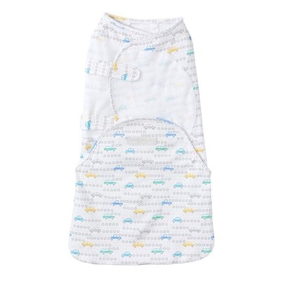 Baby HALO SwaddleSure One-Piece Tune-Up Cars Swaddle, Blue