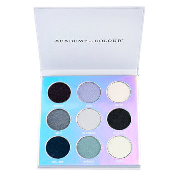 Academy of Colour Holographic 9 Shade Eyeshadow Palette, Multicolor