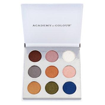 Academy of Colour Metallic 9 Shade Eyeshadow Palette, Multicolor