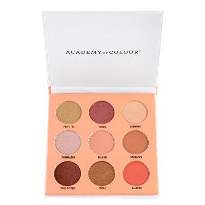 Academy of Colour Peach 9 Shade Fragranced Eyeshadow Palette, Multicolor