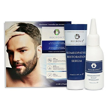 Regrowz Natural Hair Loss Remedy for Men - 3 Month Supply
