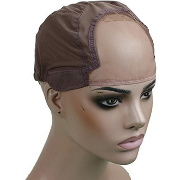 Rossy&Nancy Medium Brown Swiss and French Lace Net Top Wig Making Strentch Top 22.5inch