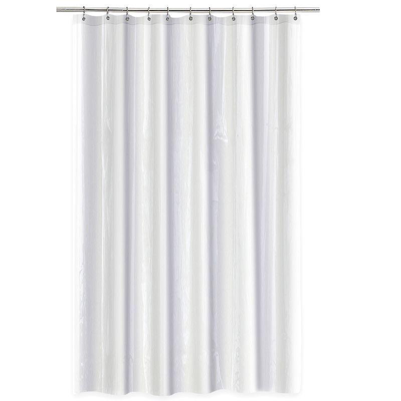 Medium Weight Shower Curtain Liner in White