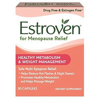 Estroven Weight Management One Per Day Multi-Symptom Menopause Relief Black Cohosh FamilyPack 2Pack (30Count) Cissus Quadrangularis Stem/Leaf Extract
