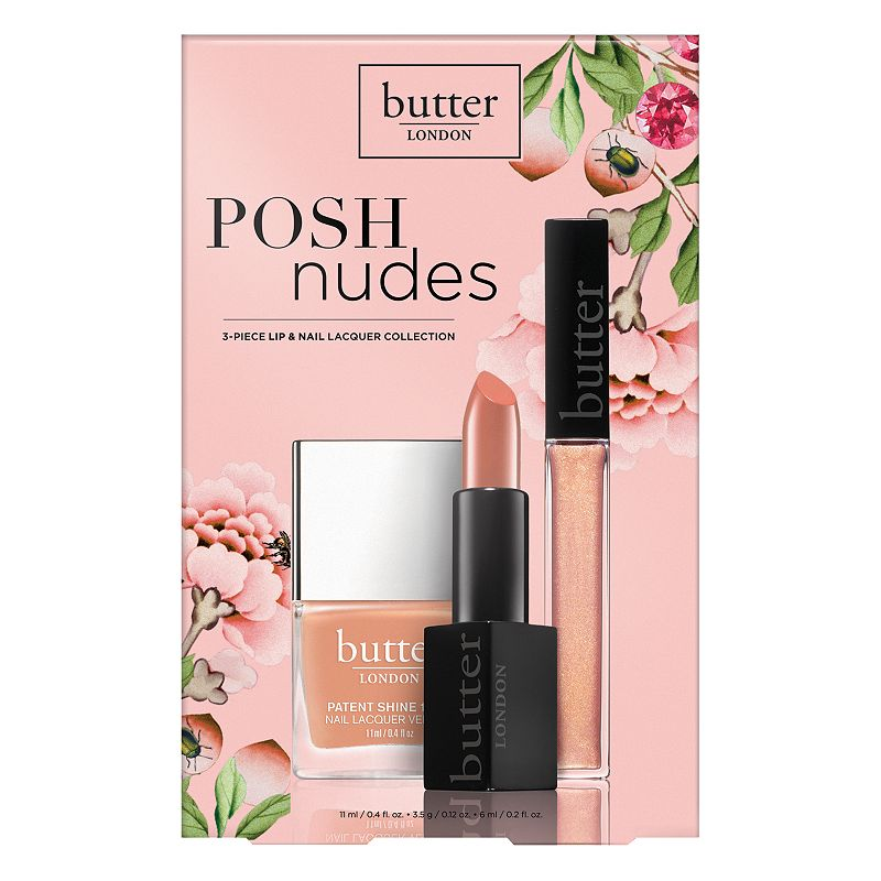 butter London Posh Nudes 3-pc. Lip & Nail Lacquer Collection, Beig/Green (Beig/Khaki)