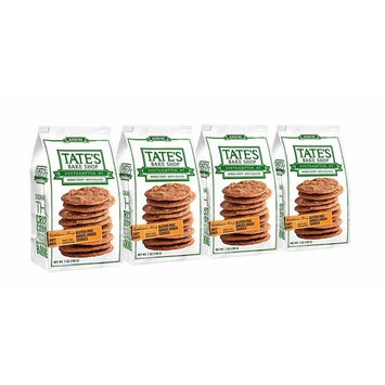 Tate's Bake Shop Thin & Crispy Cookies, Gluten Free Ginger Zinger, 7 Ounce, 4 Count [Gluten Free Ginger Zinger]