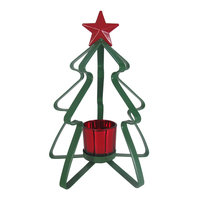 St. Nicholas Square® Christmas Tealight Candle Holder, Green