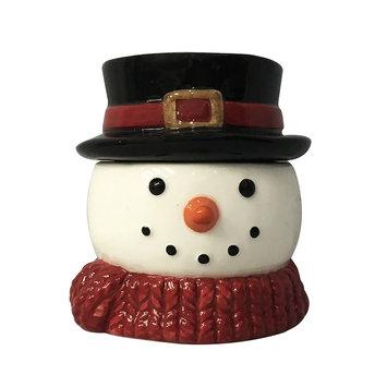 St. Nicholas Square® Snowman Christmas Cinnamon Buns 5-oz. Candle, White