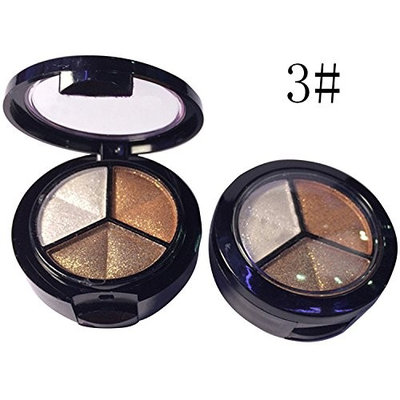 3 Color Eye Shadow Makeup Glitter Powder for Eyes Makeup