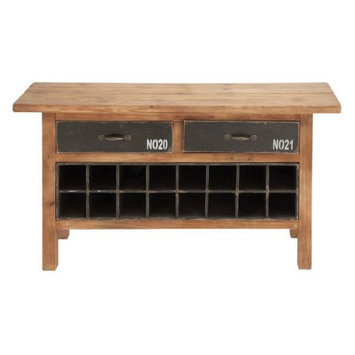 Woodland Import 93770 Wood Wine Cabinet with Traditional Design & Different Decors