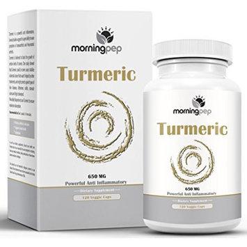 TURMERIC CURCUMIN 650 mg Anti Inflammatory Pain Relief Supplement 120 Vegi Caps By Morning Pep with Bioperine Added