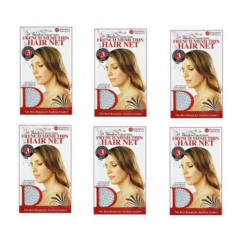 6 PACKS OF Donna - French Mesh Thin Hair Net #11081 OR #22012 , 3pcs/pack